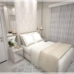 ห้องนอนขนาดเล็ก by BRUNA MARTINS Arquitetura + Interiores + Paisagem