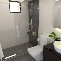 Jalan Tiga:  Bathroom by Swish Design Works,Classic