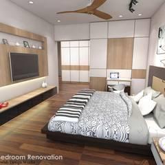 Spanish Village :  Small bedroom by Swish Design Works,Scandinavian