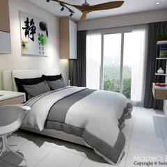 Yishun:  Small bedroom by Swish Design Works