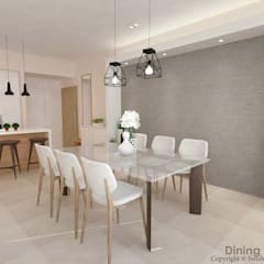 Flamingo Valley:  Dining room by Swish Design Works,