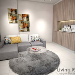 Yishun Ave 6 Scandinavian style living room by Swish Design Works Scandinavian
