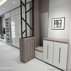 Kallang Trivista:  Corridor, hallway by Swish Design Works