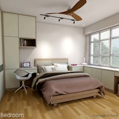 Kallang Trivista:  Small bedroom by Swish Design Works