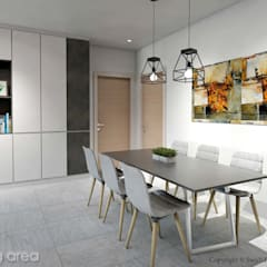 Serangoon North Ave 2:  Dining room by Swish Design Works
