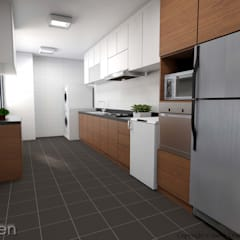 Serangoon North Ave 2:  Kitchen by Swish Design Works,Classic