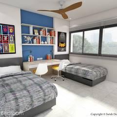 Serangoon North Ave 2:  Small bedroom by Swish Design Works,Scandinavian