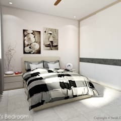 Serangoon North Ave 2:  Small bedroom by Swish Design Works,