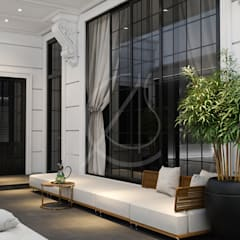 Neoclassical Saudi Arabian House Design:  Terrace by Comelite Architecture, Structure and Interior Design