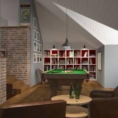 Мансарда для отдыха: Гостиная в . Автор – Альберт Галимов