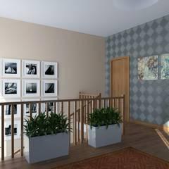 Дом с террасой. Интерьеры: Лестницы в . Автор – Альберт Галимов,