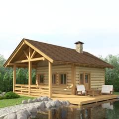 Баня у пруда: Дома в . Автор – Альберт Галимов