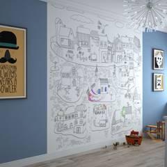 Habitaciones juveniles de estilo  por Альберт Галимов