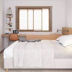 ห้องนอน by Ana Guedelha Arquitetura e Interiores
