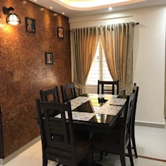 Dining room by JB Interiors and Exteriors, Asian