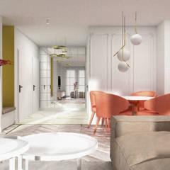 APARTAMENTY MORELOWE_75m2: styl , w kategorii Korytarz, przedpokój zaprojektowany przez 91m2 Architektura Wnętrz
