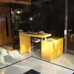 HALL WINDOW GARDEN: Pasillos y recibidores de estilo  por GR Arquitectura,Moderno Vidrio