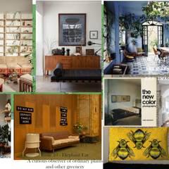 Restauración living-comedor: Livings de estilo  por Se Camper Design,Colonial Madera Acabado en madera