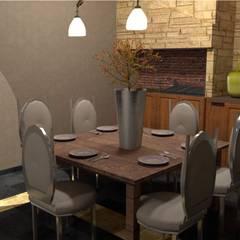 Restauración living-comedor: Livings de estilo  por Se Camper Design,Colonial Derivados de madera Transparente
