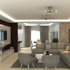 Living room by Atcorp Pvt Ltd