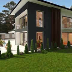 modern house: Дома с террасами в . Автор – N Group
