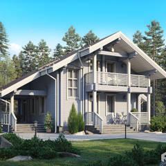 منزل خشبي تنفيذ Архитектурная студия 'АВТОР'
