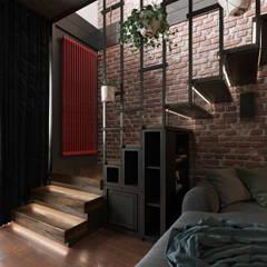 2-geschossige Maisonette in Loft Stil:  Treppe von ArDeStudio