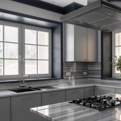 Cocinas pequeñas de estilo  por Atelier Interior