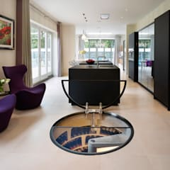 Spiral Cellars with Glass doors :  Wine cellar by Spiral Cellars