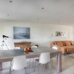 Renovatie appartement Rotterdam:  Eetkamer door lab-R | architectenbureau, Mediterraan