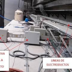 PROYECTO DE INTERCONEXION DE ELECTRODUCTOS BANCO DE MEXICO: Edificios de Oficinas de estilo  por Grupo MCB