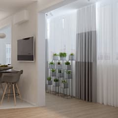 Дизайн кухни-гостиной в квартире по ул. Репина, г.Краснодар: балконы в . Автор – Студия интерьерного дизайна happy.design