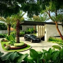 Tukang Taman Surabaya - Tianggadha-artが手掛けたアプローチ,