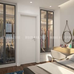 Small bedroom by Công ty TNHH Nội Thất Mạnh Hệ, Modern مضبوط کیا گیا کنکریٹ