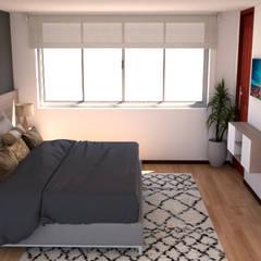 habitación Poblado : Habitaciones pequeñas de estilo  por Naromi  Design