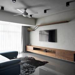 Salas / recibidores de estilo  por 舍子美學設計有限公司