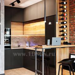 Cocinas pequeñas de estilo  por Дизайн студия 'Дизайнер интерьера № 1'