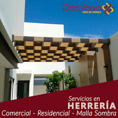 Flat roof by decoferro arte en hierro
