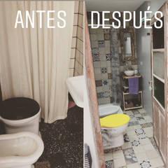 Refacción y Diseño de interiores: Baños de estilo  por Delgado+Pittaluga,Colonial