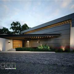 Casa cumbres del campestre : Puertas de estilo  por Argon Arquitectos