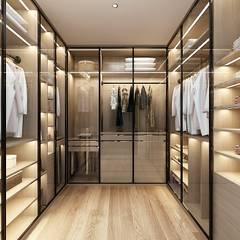غرفة الملابس تنفيذ 台中室內設計-築采設計 ,