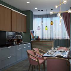 Кватира в современном стиле: Встроенные кухни в . Автор – Дизайнер интерьера Пономарева Анна