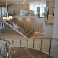 DEKODİZAYN pirinç mob. dek. ltd. şti. – PASLANMAZ CAMLI KORKULUK:  tarz Merdivenler,