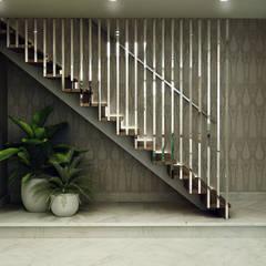 Интерьер дома: Лестницы в . Автор – Design studio broliaishaunuoliai, Модерн