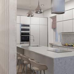 Apartamento . Lisboa . Reabilitação e Alteração: Armários de cozinha  por aponto