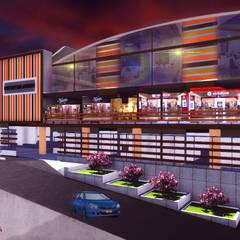 MERCADO COMERCIAL SAN ANTONIO: Oficinas y Tiendas de estilo  por VyMarquitectos,