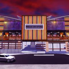 MERCADO COMERCIAL SAN ANTONIO: Salones de eventos de estilo  por VyMarquitectos
