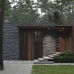 Passive house by Bezmirno, Minimalist Wood Wood effect