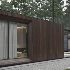 Wooden houses by Bezmirno, Minimalist Wood Wood effect