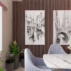 Квартира в Москве: Столовые комнаты в . Автор – #martynovadesign
